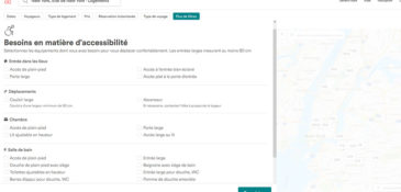 Airbnb : options d'accessibilité